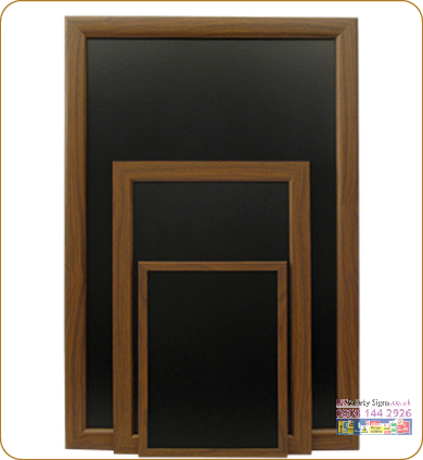 Budget chalk boards dark mahogany with graphics small sign