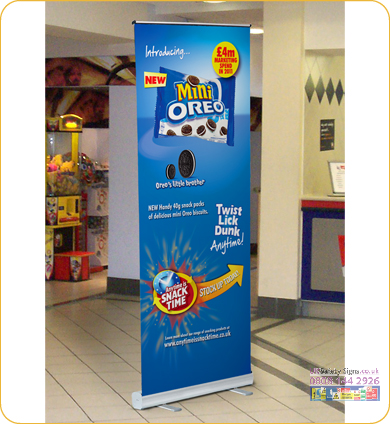 Eco roll up banner 800 x 1945 mm no graphics sign