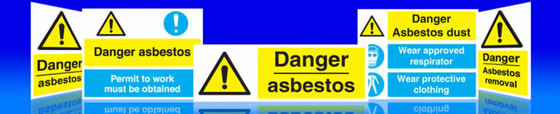 UK asbestos signs, labels and stickers suppliers