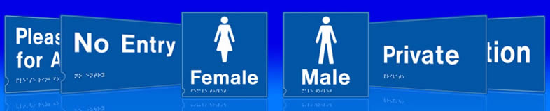UK toilet signs, labels and stickers
