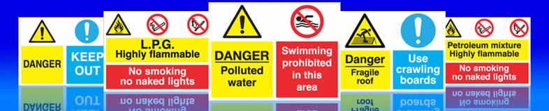 UK coshh hazardous goods signs, labels and stickers