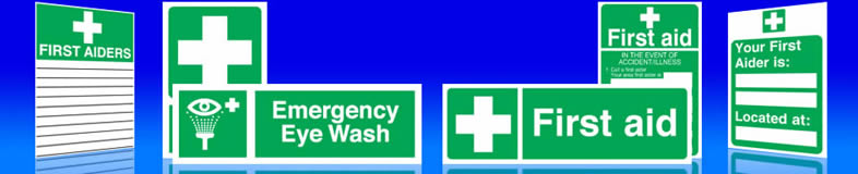 UK first aid signs, first aider labels and stickers