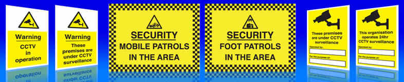 UK construction site security signs, labels and stickers