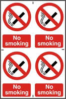 No smoking - 1mm rigid pvc 200 x 300 mm sign