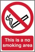 This is a no smoking area - CLG 200 x 300mm sign