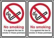 No smoking Double sided - D / S SAV 148 x 210mm sign