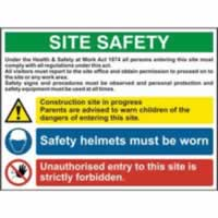 Site Safety Composite - Correx 800 x 600mm Lightweight corrugated plastic sign