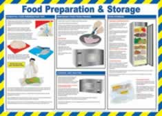Safety Poster - Food Preparation & Storage Laminated Poster sign