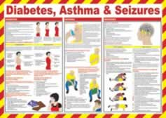 Safety Poster - Diabetes Asthma & Seizures made from Laminated Poster sign