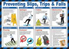 Safety Poster - Preventing Slips Trips & Falls Laminated Poster sign