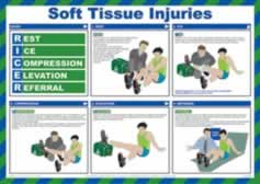 Safety Poster - Soft Tissue Injuries Laminated Poster sign