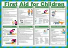 Safety Poster - First Aid for Children Laminated Poster sign
