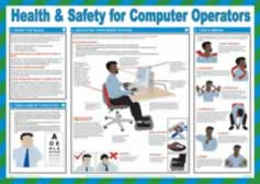 Safety Poster - Health & Safety for Computer Operators Laminated Poster sign