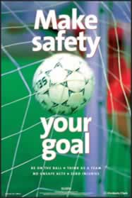 RoSPA Safety Poster - Make safety your goal Paper Laminated Poster sign