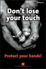 RoSPA Safety Poster - Dont loose your touch Laminated Laminated Poster sign