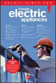 RoSPA Safety Poster - Portable electrical appliances Laminated made from Laminated Poster sign