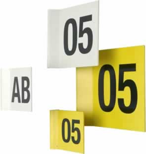 Magnetic Aisle Identifiers - 200 x 200 mm Yellow sign