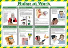 Safety Poster - Noise at work Laminated Poster sign