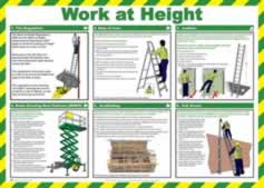 Safety Poster - Work at height Laminated Poster sign