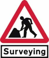 Road works & Surveying Supplied plate - Classic Roll up traffic sign 750 mm Triangle Triflex roll up sign sign