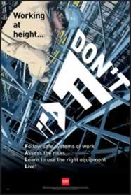 RoSPA Safety Poster - Dont fall - laminated sign