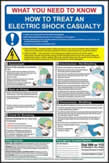Safety Poster - Electric Shock - rigid 1mm rigid plastic sign - 400 x 600mm made from 1mm rigid PVC sign
