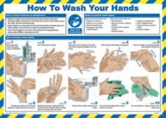 Safety Poster - How to wash your hands - LAM 590 x 420mm sign