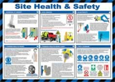 Safety Poster - Site health & safety - LAM 590 x 420mm sign