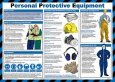 Safety Poster - Personal protective equipment - LAM 590 x 420mm sign