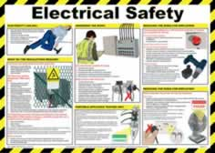 Safety Poster - Electrical safety - LAM 590 x 420mm sign