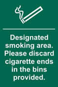 *DISC cigarette ends� - 1mm rigid pvc 200 x 300mm sign