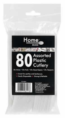 Assorted Plastic Cutlery Packet 80