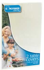 White Table Covers 2 pack