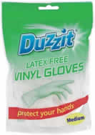Vinyl Gloves 18 Packet Medium sign