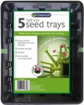 5 Packet Half Sized Seed Trays