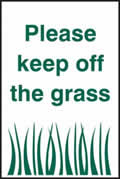 Please keep off the grass - 2mm vandal resistant polycarbonate sign 200 x 300mm 2mm vandal resistant sign sign