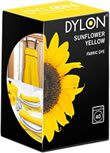 200g Dylon Machine Fabric Dye Sunflower Yellow sign