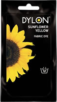 50g Dylon Hand Fabric Dye Sunflower Yellow sign