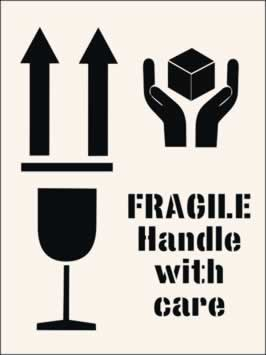 Fragile Handle with Care Stencil 400 x 600mm Stencil
