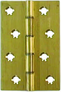 4 inch x 2 5 / 8 inch x 3.15 mm Polished Brass Medium Duty Solid Drawn Butt Hinges DSW 1 pair