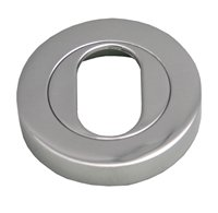 51 mm Chrome Plated Oval Hole Escutcheon sign