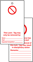 Lockout tags Blank for user completion Double sided 10 pack