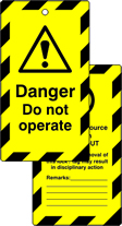 Lockout tags Danger Do not operate Double sided 10 pack