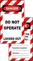 Lockout tags DO NOT OPERATE Double sided 10 pack