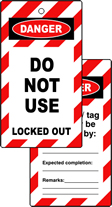 Lockout tags DO NOT USE Double sided 10 pack