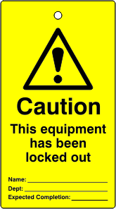 Lockout tags Caution This equipment has been locked out Single sided 10 pack