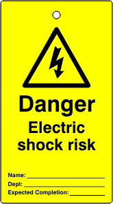 Lockout tags Danger Electric shock risk Single sided 10 pack
