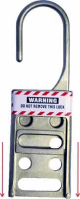 Die Cast Steel Lockout Hasp with drop down opening system