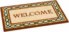 45 x 75 cm Brown Shaded Welcome Coir Mat Patterns may vary. sign