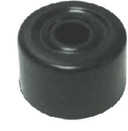 28 mm Black Plastic Door Stop Packet of 2